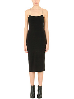 T by Alexander Wang-Vestito Micro Modal Dress in cotone elastico nero