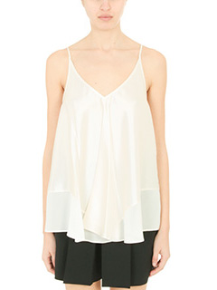 T by Alexander Wang-Top Trapeze in seta  avorio
