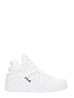 Fila-Sneakers Cage L Mid in pelle bianca
