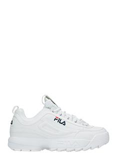 Fila-Sneakers Distruptor Low in pelle bianca