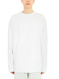 Raf Simons-Felpa oversize in cotone bianco