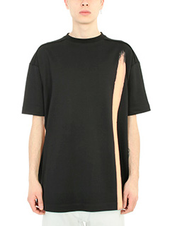 Raf Simons-T-Shirt Over in cotone nero