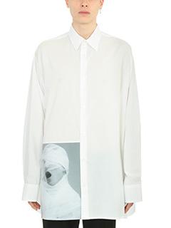 Raf Simons-Camicia Over Raf Simons for Robert Mapplethorpe in cotone bianco