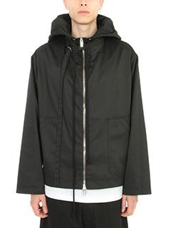 Raf Simons-Giacca Jacket zip in cotone nero