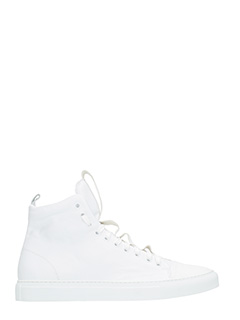 Ylati-Sneakers Sorrento High in pelle bianca