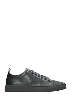 Ylati-Sneakers Sorrento Low in pelle nera-lacci