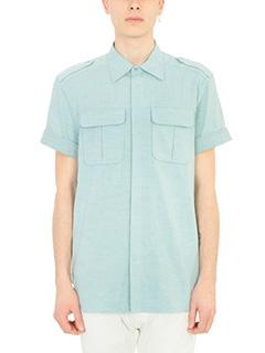 Neil Barrett-Camicia in cotone celeste