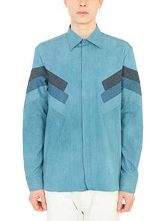 Neil Barrett-Camicia in cotone azzurro