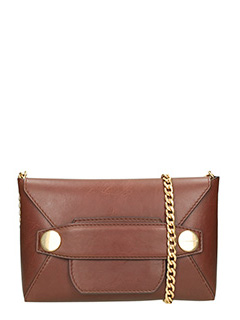 Stella McCartney-Borsa Popper Cross Body in alter nappa marrone