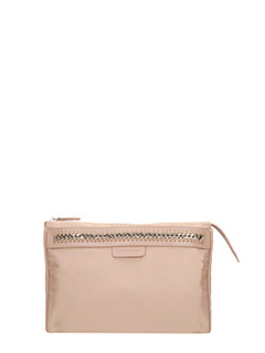 Stella McCartney-Borsa Wash Bag in nylon cipria