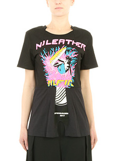 Stella McCartney-T-Shirt Laurei in cotone nero