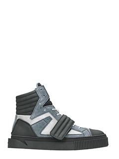Gienchi-Sneakers Hypnos in tessuto e gomma nera grigia argento