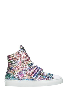 Gienchi-Sneakers Hypnos in tessuto glitter multicolor