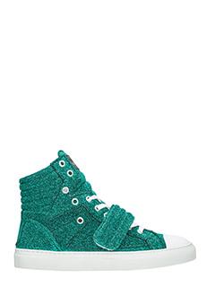 Gienchi-Sneakers Hypnos in tessuto glitter verde