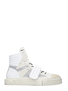 Gienchi-Sneakers Hypnos in tessuto e gomma bianca geige