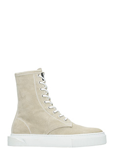 Gienchi-Sneakers Derby in camoscio beige