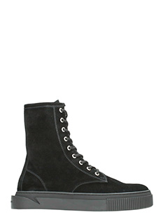 Gienchi-Sneakers Derby in camoscio nero