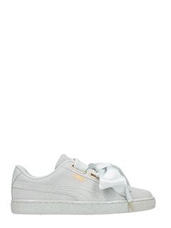 Puma-Sneakers Suede Heart in camoscio grigio