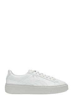 Puma-Sneakers Platform Basket in camoscio grigio