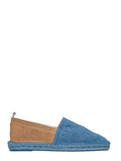 Castaner-Espadrillas in canvas blu cammello