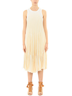 Chloé-beige silk dress