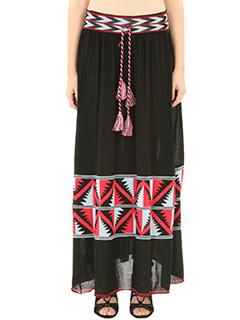 Laneus-black wool skirt