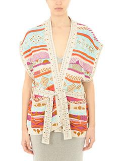 Laneus-Gilet Jacquard in cotone multicolor