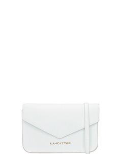 Lancaster-Pochette Adeline Mini Clutch in pelle saffiano bianca