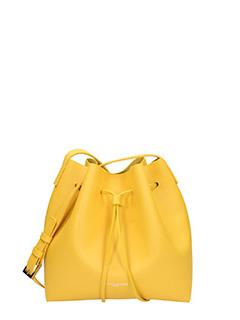 Lancaster-Borsa Mini Bucket in pelle gialla