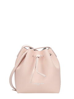 Lancaster-Borsa Mini Bucket in pelle rosa