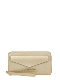 Lancaster-Adeline gold leather wallet