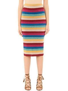 Laneus-multicolor cotton skirt