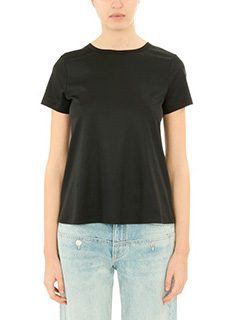 Helmut Lang-T-Shirt Back Tie Chan in cotone nero