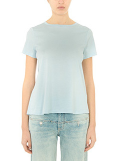 Helmut Lang-cyan cotton t-shirt