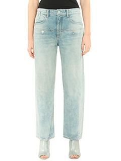 Helmut Lang-cyan denim jeans