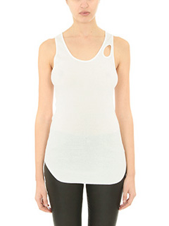 Helmut Lang-Top in cotone bianco