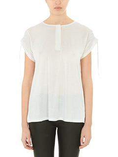 Helmut Lang-T-Shirt Short Slw in cotone bianco