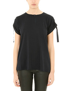Helmut Lang-T-Shirt Short Slw in cotone nero