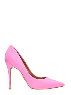 Carrano-Decollet� in nabuk rosa pink