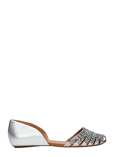 Carrano-silver leather flats