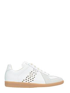 Maison Margiela-Sneaker  basse Replica in pelle  e camoscio bianco