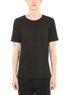 Maison Margiela-T-Shirt Basic in cotone nero