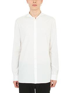 Maison Margiela-Camicia in popeline di cotone bianco