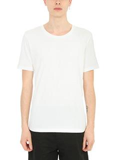 Maison Margiela-T-Shirt  Basic in cotone bianco