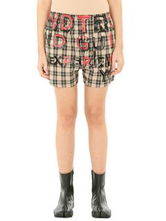 Maison Margiela-multicolor cotton shorts