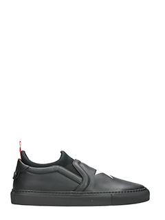 Givenchy-Sneakers slip on in pelle nera