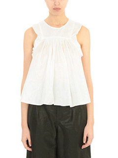 Isabel Marant-Top Axel in taffet� bianco