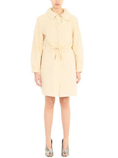 Isabel Marant-Cappotto Boyd Quilted in cotone ecru
