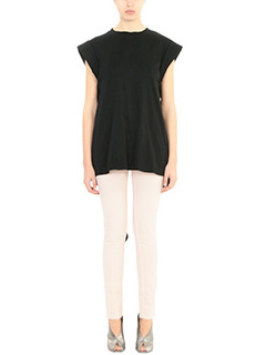 Isabel Marant-T-Shirt Lowell in cotone nero