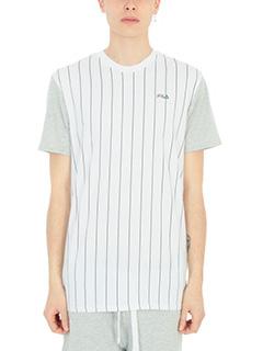 Fila-T-shirt Stripes in cotone bianco